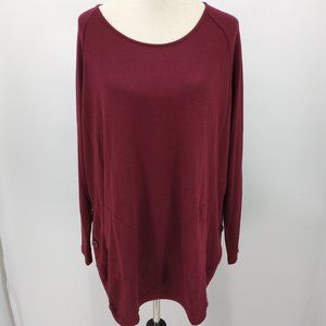 New Coco Carmen Large XL Sweater Maroon Red